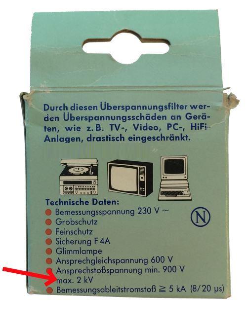 ÜberspannungsschutzSteckdosen-bis-2kV