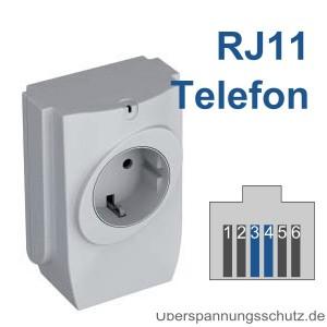 P-DA 1 TEL RJ11 Buchse