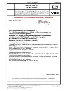 DIN VDE 0100-443 kaufen Print
