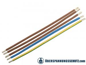 1 Satz mit 5x Verdrahtungsbrücken 325 mm in Braun lang