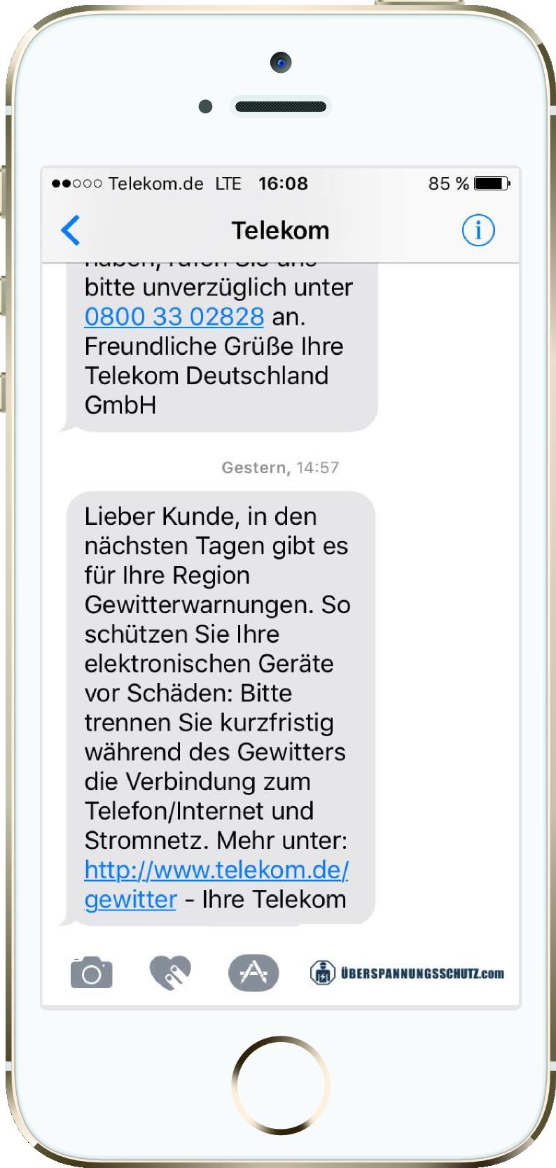 Telekom Wirbt Für Kostenlosen überspannungsschutz